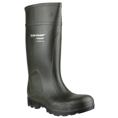 Dunlop Purofort Professional Safety Wellingtons Green
